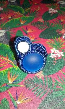 Prstene - Prsteň- blue lagoon-soutache - 7144926_