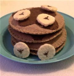 DIY felt food pancake tutorial