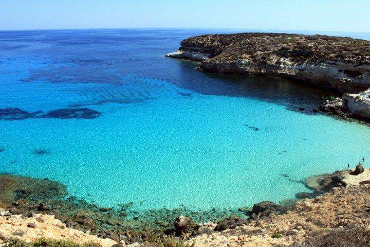 Conigli beach, Lampedusa, Sicily, Italy
