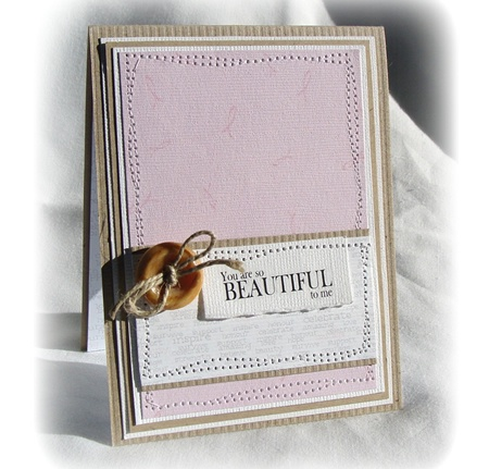 Think Pink Card by Leann New
