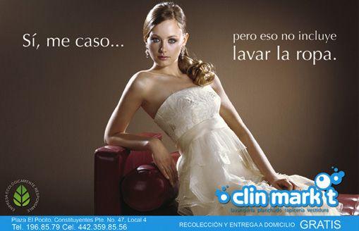 Campaña para lavandería, clin mark-t