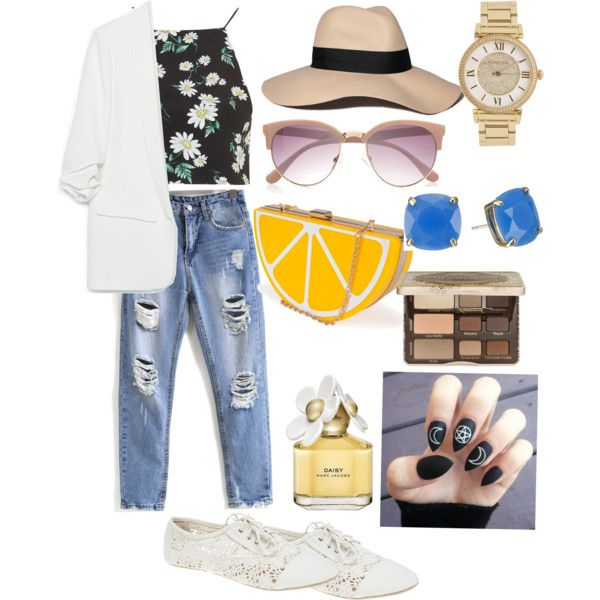 Sheinside boyfriend jeans 1 by hajimo on Polyvore featuring polyvore, fashion, style, Topshop, Zara, Wet Seal, Nila Anthony, Kate Spade, Michael Kors, Abercrombie & Fitch, River Island, Too Faced Cosmetics, Marc Jacobs and Sheinside