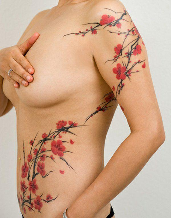 joli tattoo cerisier arbre japonais