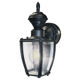 Secure Home�11-in H Black Motion Activated Outdoor Wall Light We purchased 2 of these for outside our French door off the kitchen.