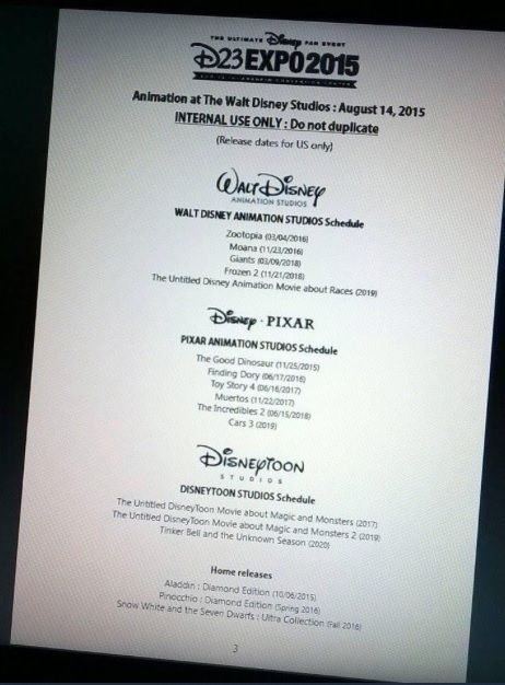 Have release dates for Frozen 2, The Incredibles 2, and others been revealed? A photo of a document from an unknown source claiming to be an official schedule for Disney's upcoming D23 convention has been making its way around the internet, providing what could be previously unrevealed release dates for several upcoming Disney movies, as well as announcements on unknown projects. These include, most notably, release dates for the sequels to Frozen and The Incredibles, but also information on…