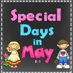 Giveaway for May Days! Enter for your chance to win 1 of 5. Print and Go Special Days in May Activities  (20 pages) from Wise Owl Factory on TeachersNotebook.com (Ends on on 04-05-2016) This product covers the special days in May and includes literacy and math activities. .