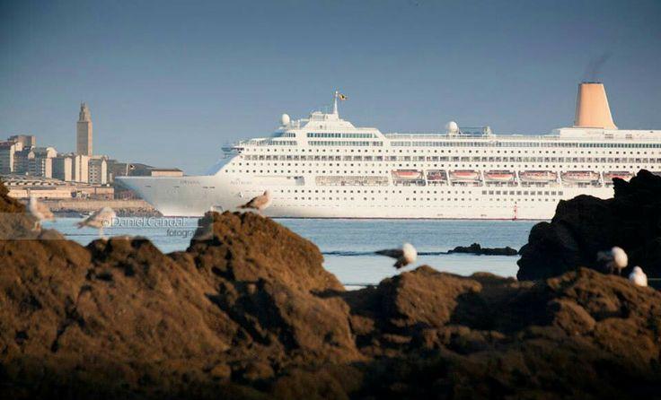 Crucero Oriana. A Coruña
