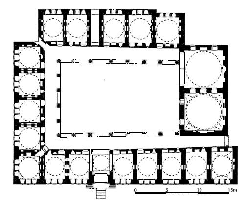 Erken Osmanlı Dönemine ait cami, medrese ve hanların mimari planları