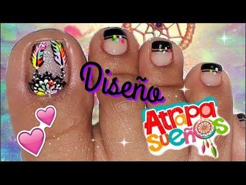 Decoracion De Unas Atrapasuenos Para Pies Dreamcatcher Nail Art