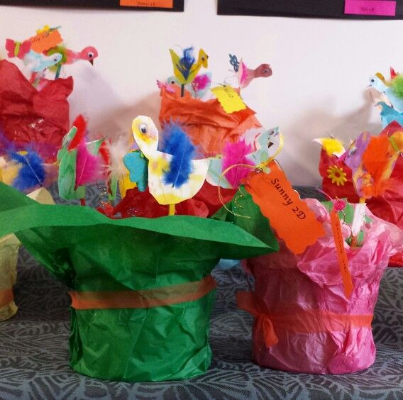 A pot of bitds by grade two.
