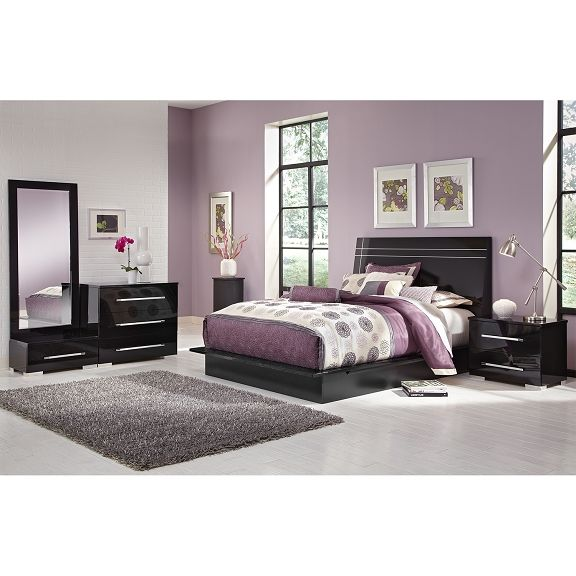 the dimora black ii collection value city furniture