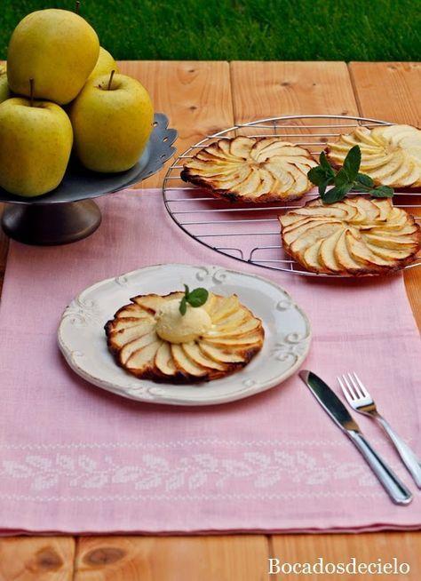 Estas tartitas individuales de manzana resultan absolutamente irresistibles, crujientes, muy finas y con un punto de dulzor. Se hac...