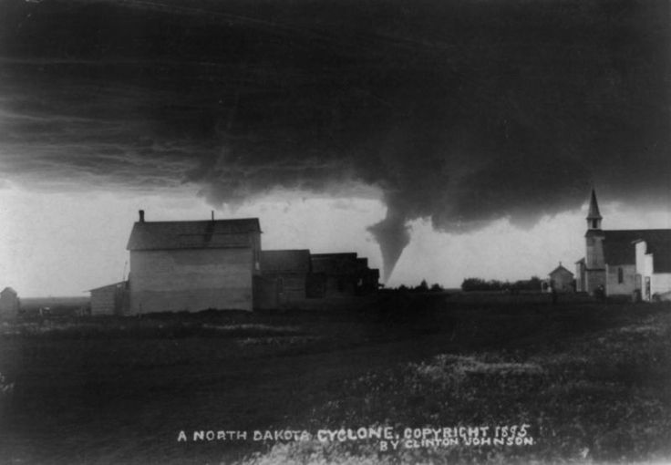 """vintageeveryday: """"World's Earliest Tornado Photos – Storm chasers took some of fearless photographs from the 19th century. """""""