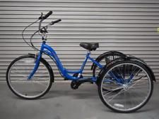"Kent Alameda 26"" Electric Folding Adult Trike Cruiser Tricycle Bike 250W Mid Mot"