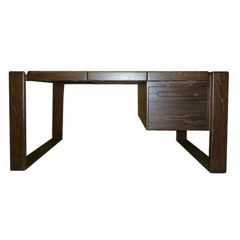 Lou Hodges Craftsman Desk in Cerused Oak on Chairish.com