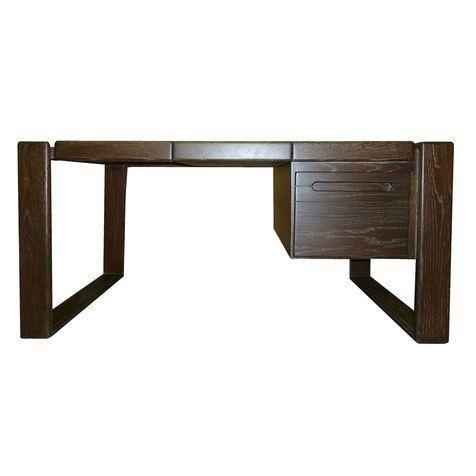 Lou Hodges Craftsman Desk in Cerused Oak on Chairish.com