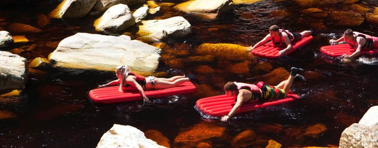 Kayak+&+lilo+up+the+Storms+River,+Tsitsikamma+on+The+Garden+Route