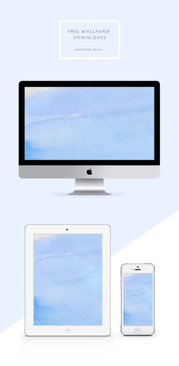 Download this free watercolour wallpaper for all your devices!  somethingpeach.com // wallpaper_011