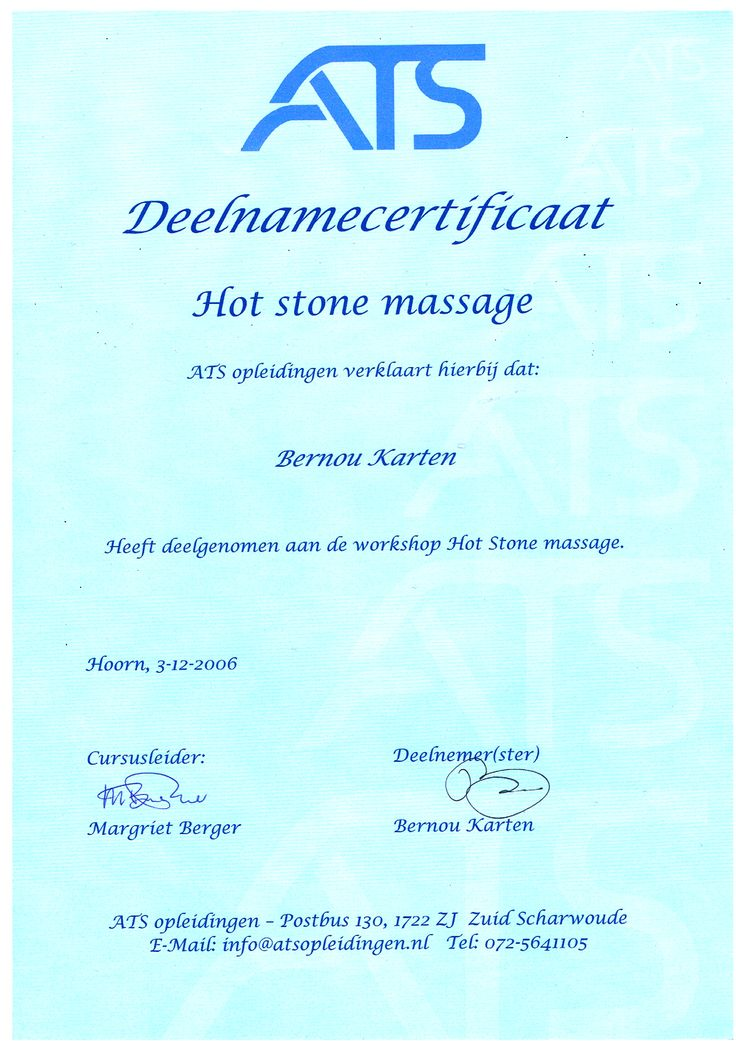 diploma hotstone massage