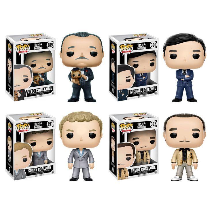 Funko Pop! Movies Godfather Collectors Set: Vito Corleone, Michael Corleone, Sonny Corleone, Fredo Corleone