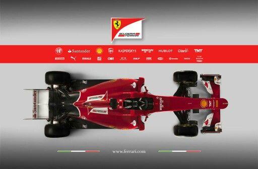Dit plaatje heb ik gebruikt om goed de bovenkant van een Formule 1 auto te kunnen bekijken.