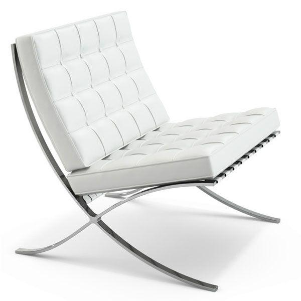 Fauteuil Barcelona chair Half leather - Meubles design