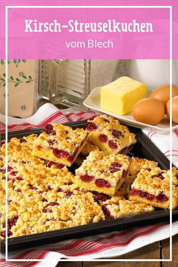 Kirsch-Streuselkuchen vom Blech – Kirschkuchen & Kirschtorte