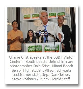 LGBT-rights group Equality Florida Action PAC endorses Democrat Charlie Crist for governor