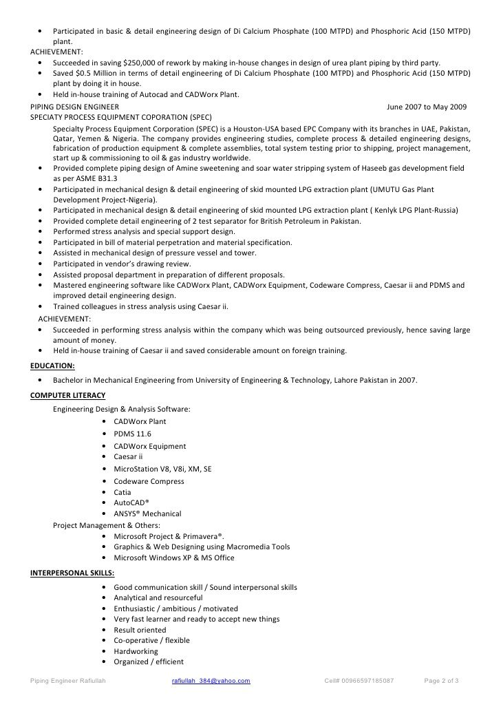 The 25+ best Cv resume sample ideas on Pinterest Cv format - piping field engineer sample resume