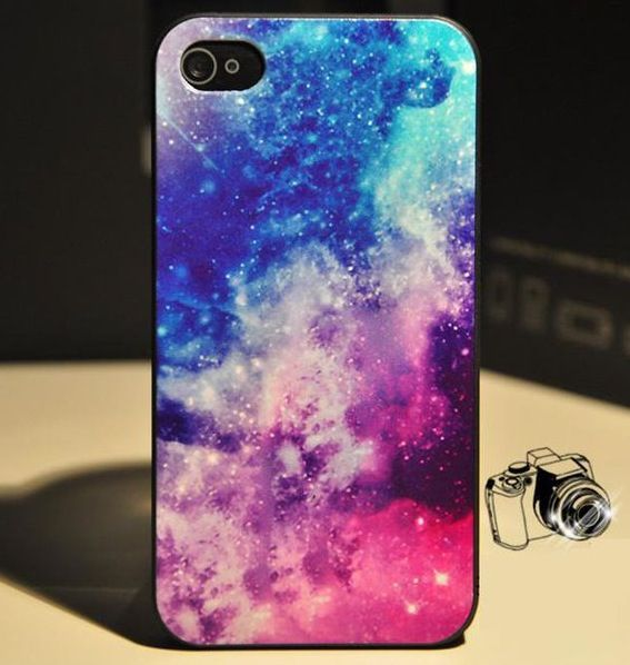 Apple iPhone 5 Case Cover Galaxy Starlight Blue Case Cover + Screen Protector