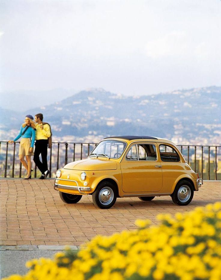 #fiat #fiat500 #bellaitalia #italy #yellow #flowers #sunshine #summer