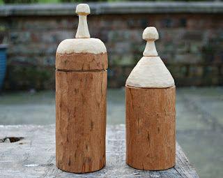 Simon Hill Green Wood Carving: Ash shrink pots.