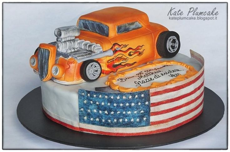 Hotrod cake by Kate Plumcake