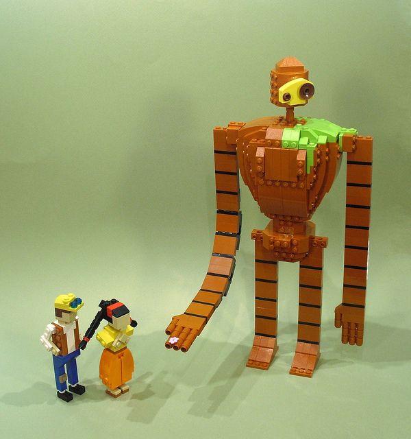 Castle in the Sky via Hayao Miyazaki's Films As LEGOs #Miyazaki #lego #sculptures