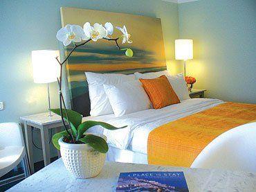 beach style bedroom source bedroom suite. Sun Set Ocean Painting As A Headboard. Original Source Unknown. Beach Theme BedroomsCoastal Style Bedroom Suite R