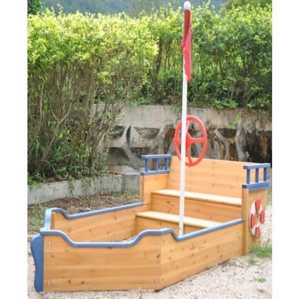 Kids Wooden Boat Shape Sandpit in Toys, Hobbies, Outdoor Toys, Sandpit Toys | eBay