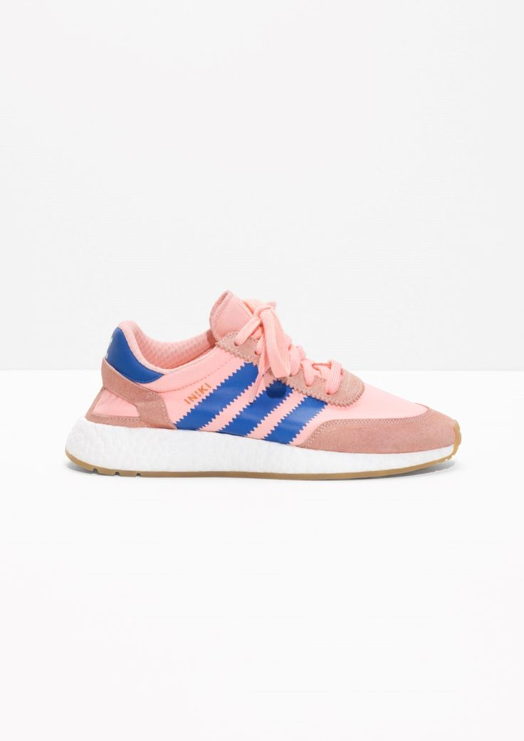 & Other Stories image 1 of adidas Iniki in Haze Coral/Blue