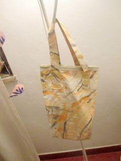 Bag - Saco - tecido pintado.
