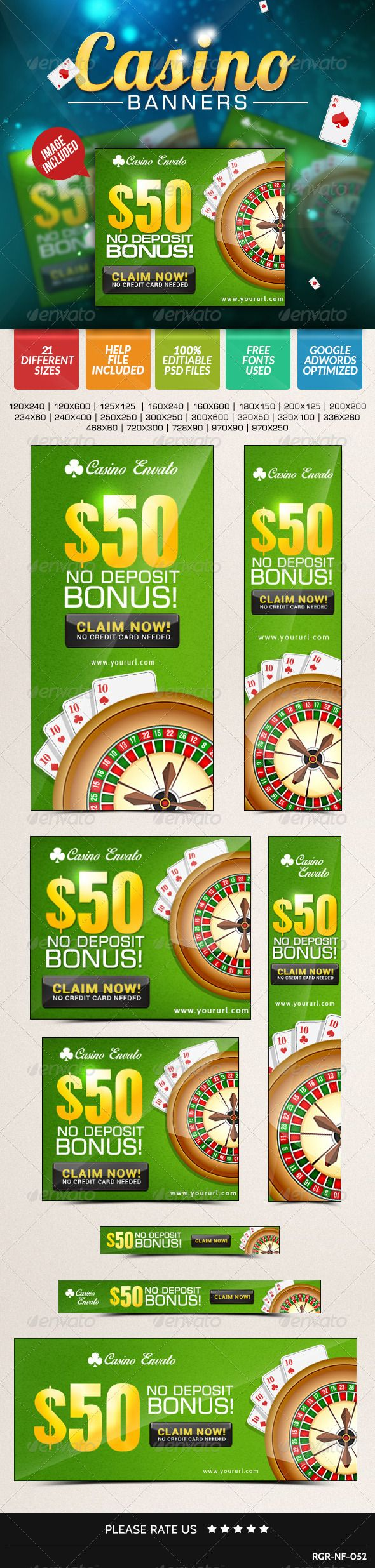 Quality Casino Banner, it is a great looking banner set that helps in promoting your products and services.