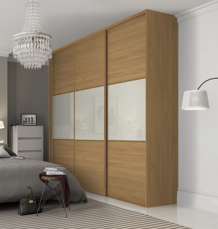 Beautiful classic three panel sliding wardrobe doors in for Bedroom wardrobe designs with sliding doors