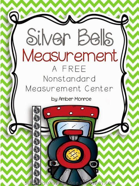 Polar Express Activities: FREE Silver Bells nonstandard measurement activities featuring Polar Express clip art. Cute!