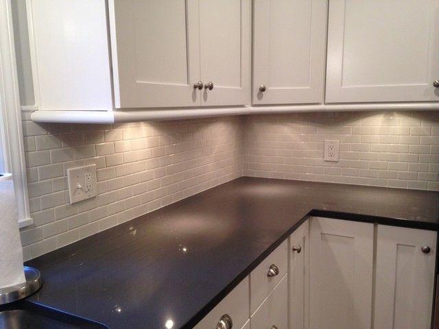 Bright clean white kitchen backsplash tile  Amalfi Gloss