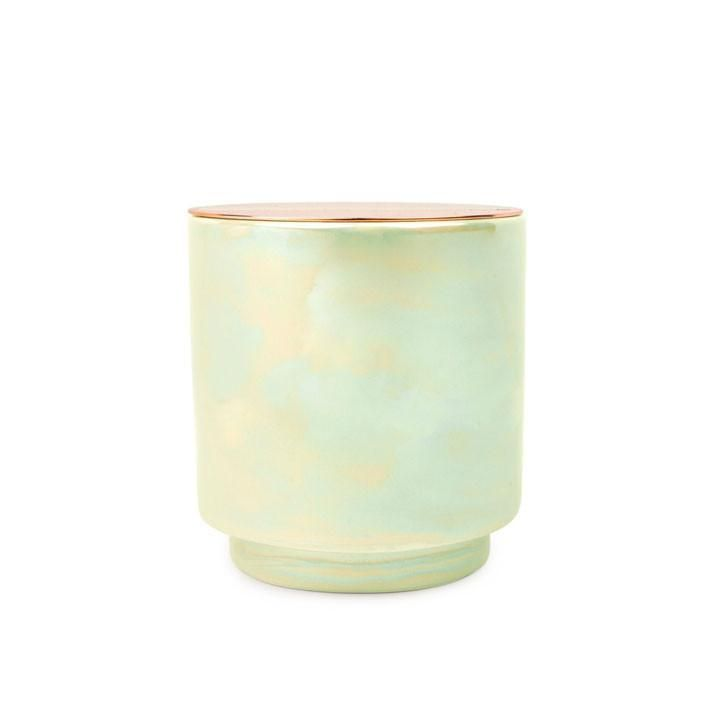 Paddywax Glow 17 Oz Iridescent Ceramic Candle Emerald W Copper Lid Balsam Home Décor Candles