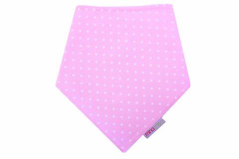 Baby pink polka dot dribble bandana bib – Mina Moo and Baby