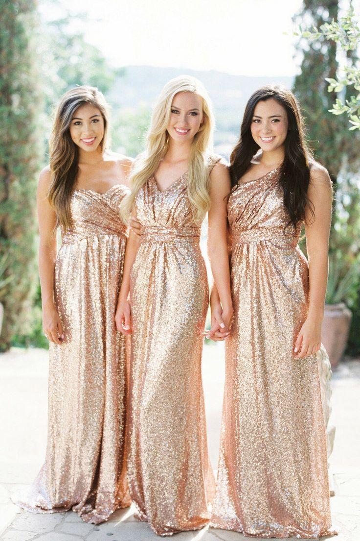 Home Try-On Celeste Sequin Dress in 2021 | Gold bridesmaid dresses, Bridesmaid dresses, Sequin bridesmaid dresses