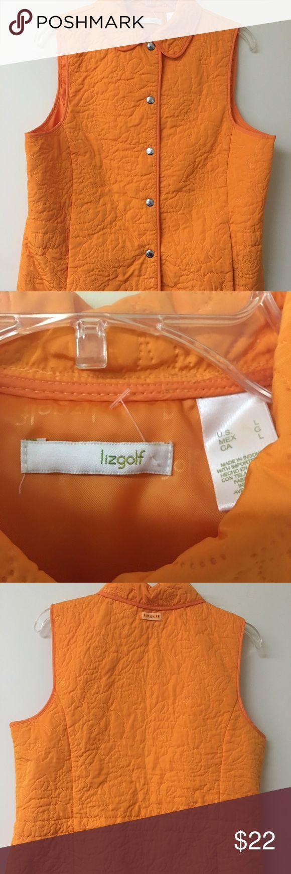 Lizgolf tangerine vest Size Large Beautiful lightweight sport vest new without tags Lizsport Jackets & Coats Vests
