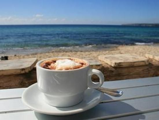 Coffee on the beach? Yes please!