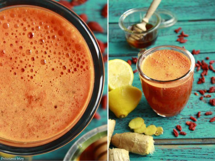 Delicious blog: Goji-zázvorový čaj