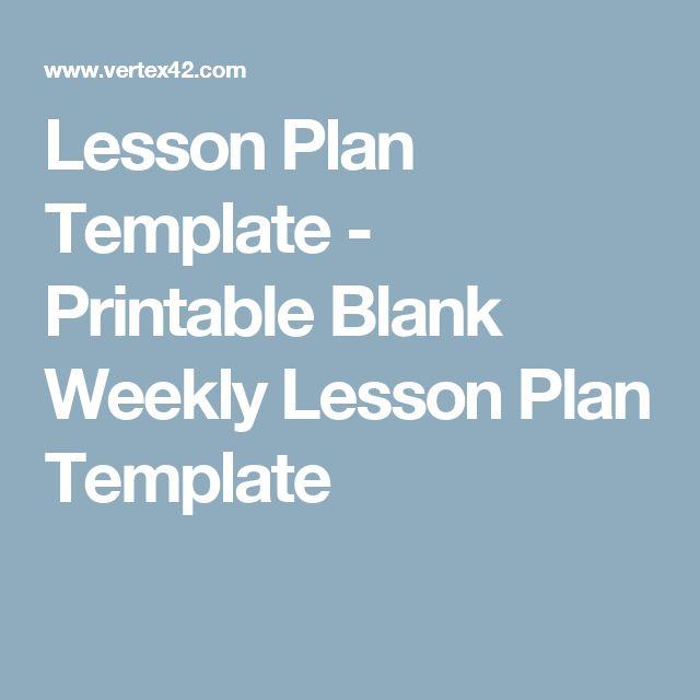 Ponad Najlepszych Pomysłów Na Pintereście Na Temat Blank Lesson - Printable blank lesson plan template