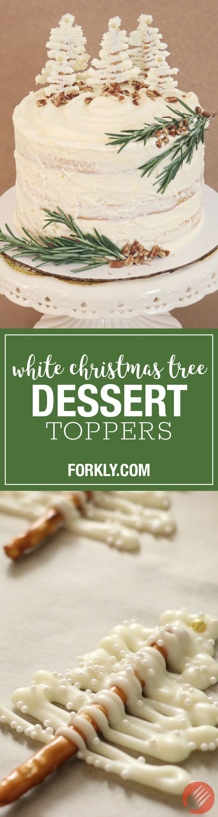 White Christmas Tree Dessert Toppers - http://www.forkly.com/recipes/white-christmas-tree-dessert-toppers/